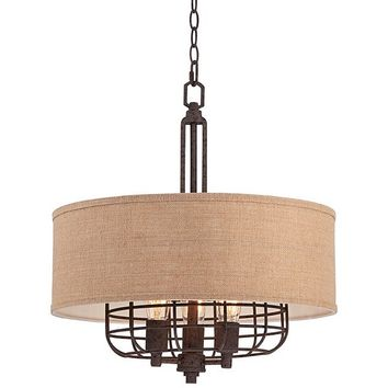 Franklin Iron Works Tremont Rust 20-Inch-W Pendant - #EU4C329 - Euro Style Lighting