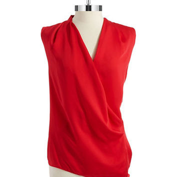 Dknyc Draped Blouse
