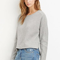 Contemporary Ribbed Knit Sweater