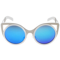 White Frame Vintage Cat Eye Sunglasses