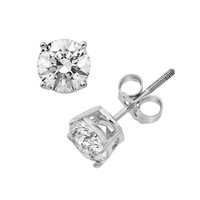 14k Gold 1 1/2-ct. T.W. Round-Cut IGI Certified Diamond Stud Earrings (White)