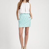 Diane von Furstenberg - Clyde Mini Flower Lace Skirt