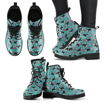 Bernese Mountain Dog Flower Boots-Clearance