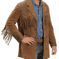 Men's Western Dva Brown Leather Jacket | Style and Decor