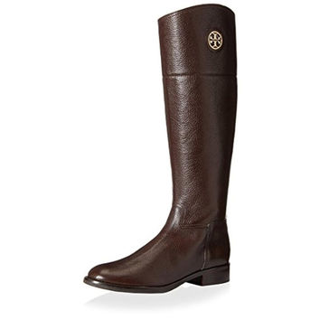 Tory Burch Womens Junction Leather Textured Riding Boots