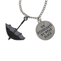 American Horror Story: Coven On Wednesdays We Wear Black Necklace