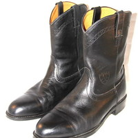 ARIAT Heritage Roper Boots Cowboy ATS Technology Black Leather Mens Size 13 M