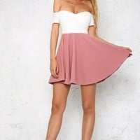 Fit And Flare Dress Dusty Pink