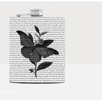 Hip flask-Butterfly hip flask-Flask for women-Gift for her-Unique gift for her-21st birthday gift-Vintage-Newspaper-Dictionary art print