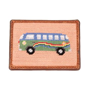 Hippie Bus Needlepoint Credit Card Wallet by Smathers & Branson