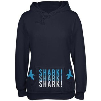 LMFCY8 Shark Stacked Pocket Pet Attack Juniors Soft Hoodie