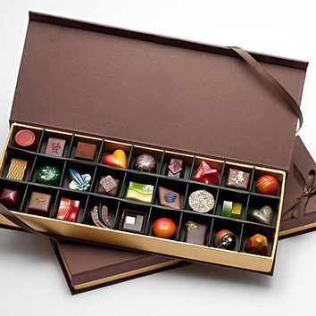 Chocolates: 27-Piece Box by Infusion Chocolates (Artisanal Chocolate) | Artful Home