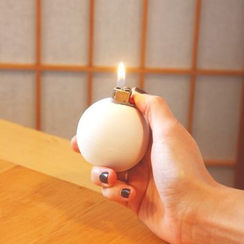Concrete Table Lighter by OPUS