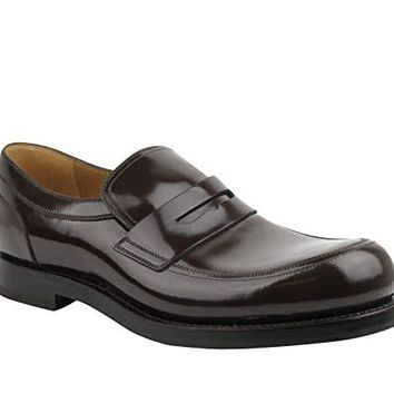 Gucci Polished Cocoa Penny Brown Leather Loafer Shoes 386541 2140 (8.5 G / 9.5 US)