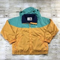Vintage 80s North Face Orange/Teal VERSATECH Jacket Made in USA UNISEX Size Medium