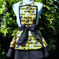 Pittsburgh Steelers Womens Apron, Football, Game Day Apron, Aprons