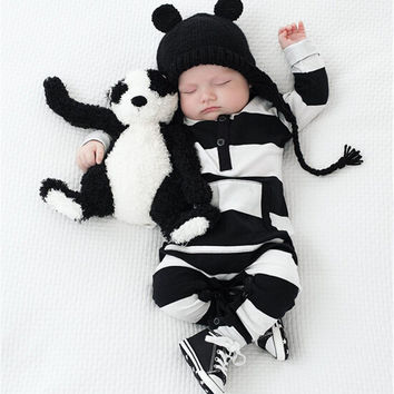 Newborn Baby Boy Clothes 2016 Brand Design Cotton New Born Baby Boys Romper Long Sleeve One-piece Infantil Roupas De Bebe