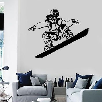 Wall Stickers Vinyl Decal Snowboard Winter Sports Extreme Mountain Unique Gift (ig1869)
