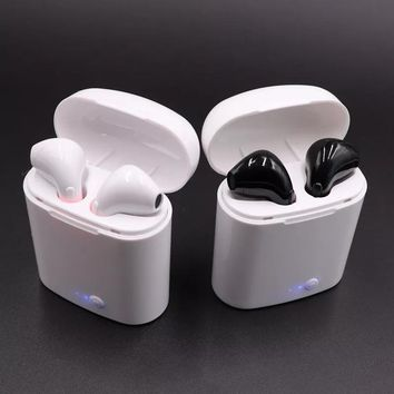 New Double Ear mini bluetooth Headsets Air pods Earbuds wireless Headphones Earphone Earpiece for apple iphone Android Air pods