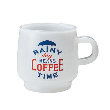 KINTO Slow Coffee Style Milk Glass Rainy Day Mug