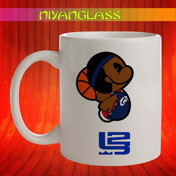 Lebron James Anime mug, Lebron James american flag cup, Lebron James mugs, personalized cup, funny mugs, birthday ceramic mug