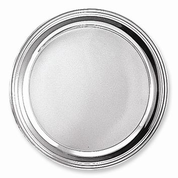 Silver-plated Round Tray - Engravable Personalized Gift Item