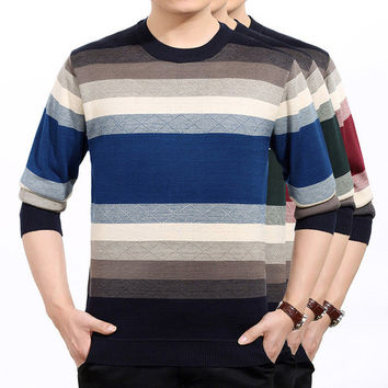 Mens Casual Multi Color Quilted Style Sweater