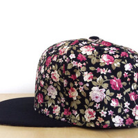 On Sale- Retro Style Floral Snapback-Adjustable Unisex Snapback