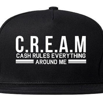 Kings Of NY Cream Cash Rules Everything Around Me Snapback Hat Cap