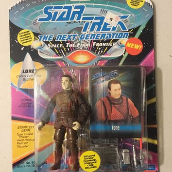 "Lore Data's Brother Vintage Star Trek Action Figure on Card 5"" Playmates 1993"