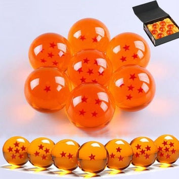 NEW 7Pcs JP Anime DragonBall Z Stars Crystal Ball Set (Color: Black) [9325739012]