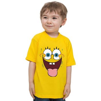 4-12 yrs Kids Short Sleeve t-shirt boy Cartoon tops Spongebob clothes children t shirts boys clothing vetement enfant garcon