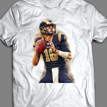 LOS ANGELES RAM'S JARED GOFF PAINTING T-SHIRT