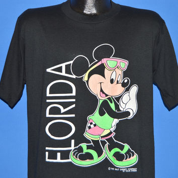 90s Mickey Mouse Florida Neon Vacation t-shirt Large