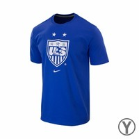 Youth Nike USA WNT Crest Tee - Royal