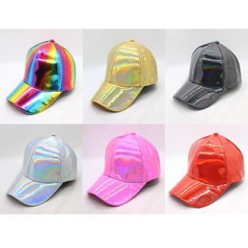 Luxury Hip-Hop hat Fashion Rainbow Color Changing Hat Cap Back to the Future Prop Bigbang G-Dragon Baseball Caps