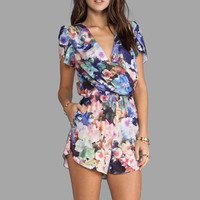 6 SHORE ROAD Archers Short Romper in Wildflower from REVOLVEclothing.com