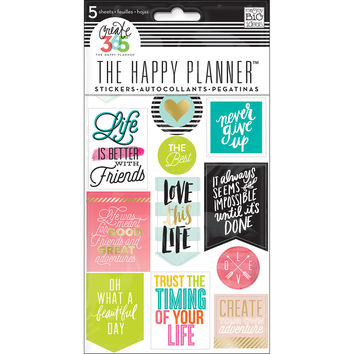 Create 365™ The Happy Planner™ Life Quotes Stickers