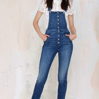 7 for All Mankind Janette Tapered Overalls