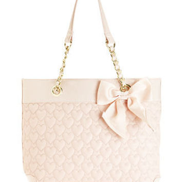 Betsey Johnson Handbag, Heart Quilted Tote - Betsey Johnson - Handbags & Accessories - Macy's