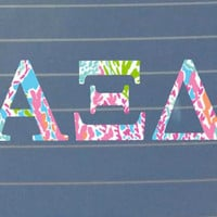 Lilly Pulitzer Alpha Xi Delta Car Decal | Alpha XI Delta Car Sticker | Alpha XI Delta Sorority | Alpha XI Delta Laptop | Greek Car | 164