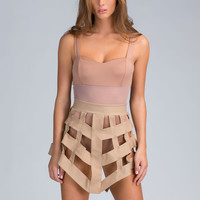 Caged Up Bodysuit 'N Skirt Set