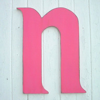 Kids Wall Decor Art Letters n Wooden Wall Hanging by LettersofWood