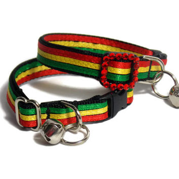 Bob Marley Inspired Cat Collar