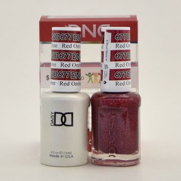 Daisy Soak Off Gel Polish + Matching Nail Polish Duo 677 Red Ombre