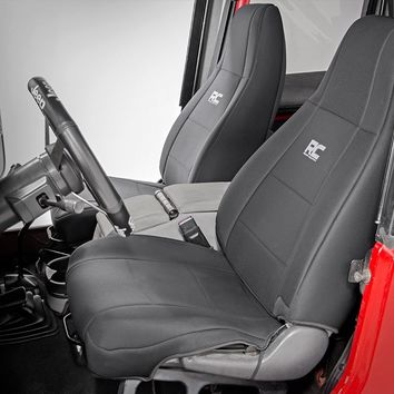 Jeep Wrangler YJ Jeep Neoprene Seat Cover Set | Black [87 90 Wra