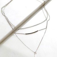 Set The Bar Chain Necklace Silver