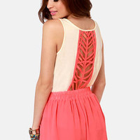 Element Eden Jet Lagged Cream Backless Tank Top