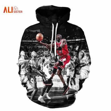 Alisister Fashion Jordan Hoodies Men 3d Print Painting Sweatshirt Designer Men's Sweat