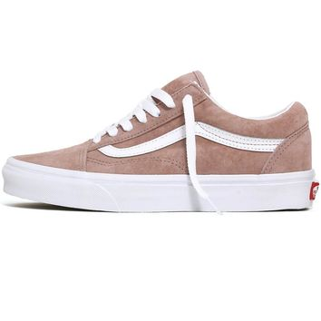Pig Suede Old Skool Women's Sneakers Shadow Grey / True White